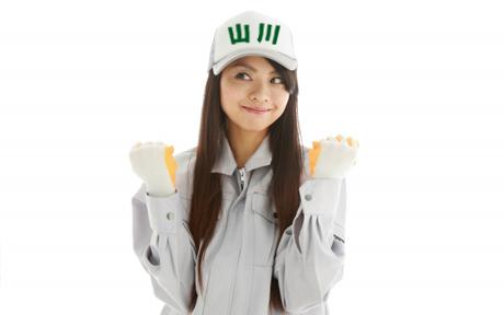 作業服姿の女の子